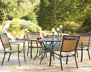 Carmadelia 5-Piece Outdoor Round Dining Set, , rollover
