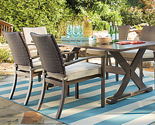 Moresdale 5-Piece Outdoor Rectangular Dining Set, , rollover