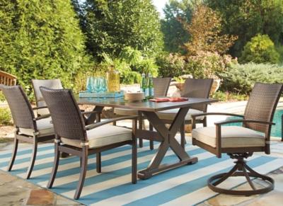 Ashley Outdoor Rectangular Dining Set