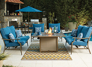 Partanna 5-Piece Outdoor Fire Pit Set, , rollover