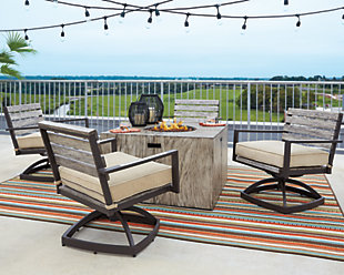 Peachstone 5-Piece Outdoor Fire Pit Set, , rollover