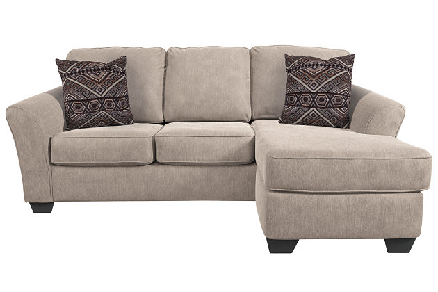 Terrarita sofa chaise and pillows ashley furniture homestore for Ashley furniture chaise lounge prices