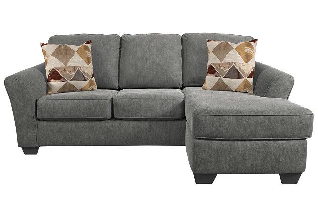 Terrarita sofa chaise and pillows ashley furniture homestore for Ashley furniture chaise lounge prices