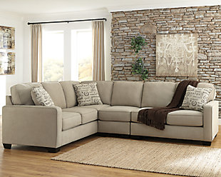 ... Large Alenya 3 Piece Sectional, Quartz, Rollover