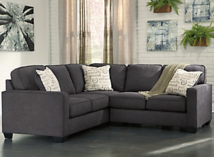 Alenya 2-Piece Sectional, Charcoal, rollover