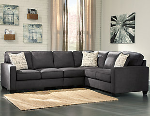 ... Large Alenya 3 Piece Sectional, Charcoal, Rollover