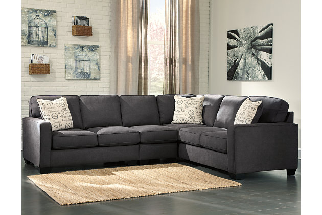 Alenya 3 Piece Sectional Charcoal Large