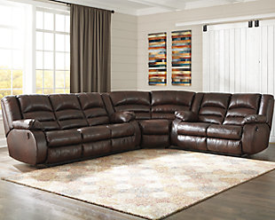 Levelland 3-Piece Reclining Sectional with Power, , rollover