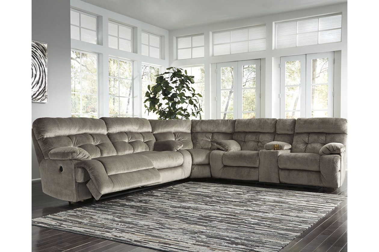 Amazing Brassville 3 Piece Reclining Sectional With Power Ashley Gmtry Best Dining Table And Chair Ideas Images Gmtryco