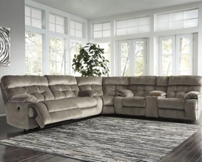 Brassville 3 Piece Power Reclining Sectional Ashley Furniture Homestore