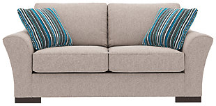 Bantry Nuvella® Loveseat and Pillows, Slate, rollover