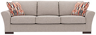 Bantry Nuvella® Sofa and Pillows, Slate, large