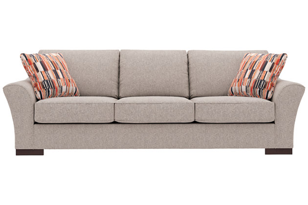 Bantry Nuvella® Sofa and Pillows, Slate, large