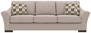Bantry Nuvella® Sofa and Pillows, Slate, rollover