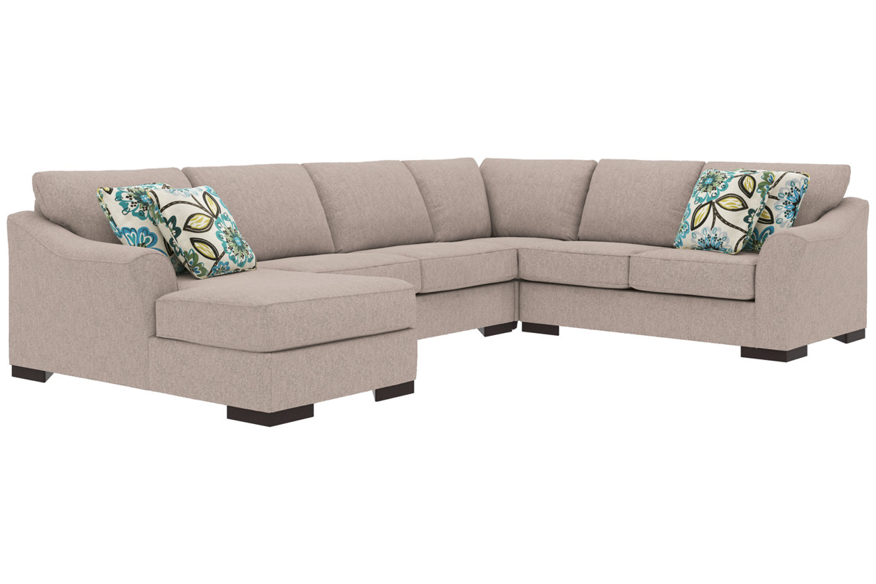 Enjoyable Bantry Nuvella 4 Piece Sleeper Sectional And Pillows Download Free Architecture Designs Terstmadebymaigaardcom