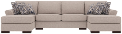 Stylish Piece Sleeper Sectional Pillows Slate Nuvella Product Photo