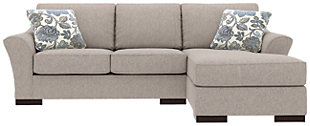 Bantry Nuvella® 2-Piece Sectional and Pillows, Slate, rollover