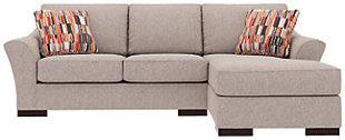 Bantry Nuvella® 2-Piece Sectional and Pillows, Slate, large