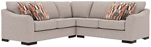 Bantry Nuvella® 3-Piece Sectional and Pillows, Slate, large