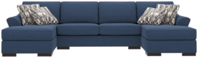 Choose Piece Sleeper Sectional Pillows Indigo Nuvella Product Photo