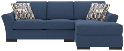 Piece Sectional Pillows Indigo Nuvella Product Photo 598