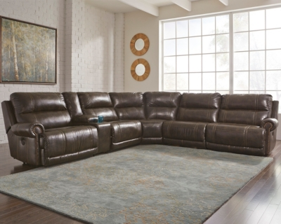 Ashley Durablend Reg Sectional Power