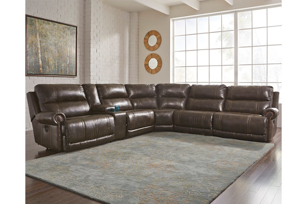 Dak DuraBlend ® 6-Piece Sectional with Power by Ashley Ho...