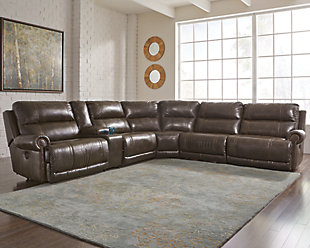 Dak 7-Piece Reclining Sectional with Power, , rollover