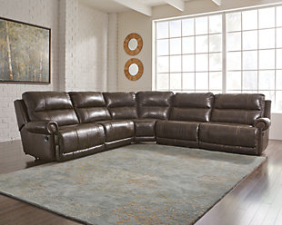 Dak 5-Piece Reclining Sectional Non-Power, , rollover
