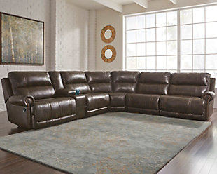 Dak 6-Piece Reclining Sectional Non-Power, , rollover