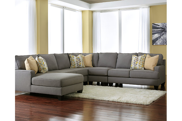 collection pewter gray discount sectional cresson living room ashley furniture