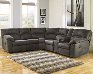 Tambo 2-Piece Reclining Sectional, Pewter, rollover