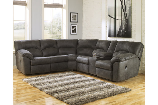 Pewter Tambo 2-Piece Sectional View 1  sc 1 st  Ashley Furniture HomeStore : sectional recliner couch - islam-shia.org
