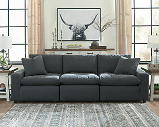 Savesto 3-Piece Sectional, Charcoal, rollover