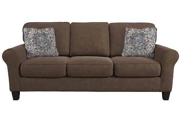 Aldy Sofa and Pillows by Ashley HomeStore, Brown