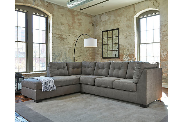 Pitkin 2 Piece Sectional With Chaise, Ashley Furniture Gray Sectional