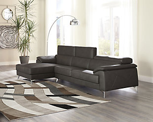 Tindell 2-Piece Sectional with Chaise, Gray, rollover