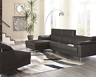 Tindell 3-Piece Sectional with Chaise, Gray, rollover