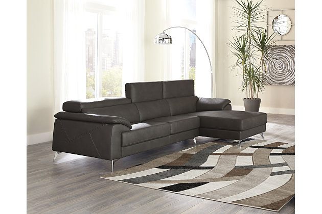 Phenomenal Tindell 2 Piece Sectional With Chaise Ashley Furniture Creativecarmelina Interior Chair Design Creativecarmelinacom