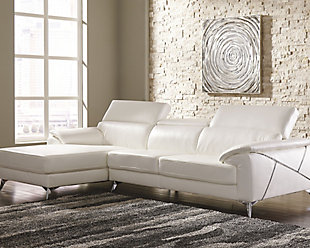 Tindell 2-Piece Sectional with Chaise, White, large