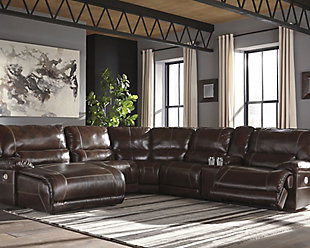 Killamey 6-Piece Reclining Sectional with Chaise and Power, , large