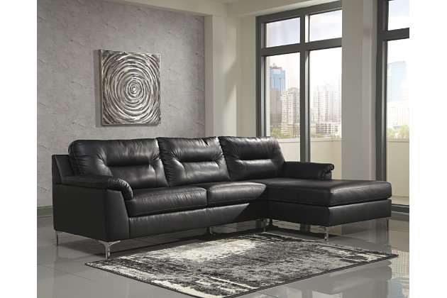 Tensas 2 Piece Sectional With Chaise Black Large