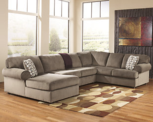 Large Jessa Place 3 Piece Sectional Dune Rollover