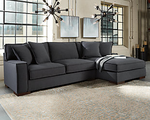 Shop Abbyson Tanya Grey Fabric 4-piece Sectional Sofa - Free ...
