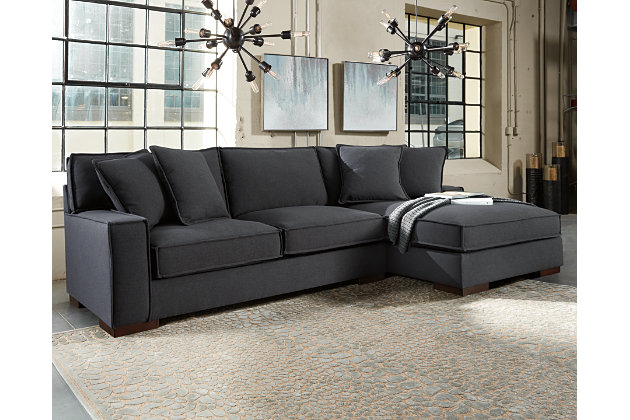 Charcoal Gamaliel 2-Piece Sectional View 1  sc 1 st  Ashley Furniture HomeStore : ashley furniture grey sectional - Sectionals, Sofas & Couches