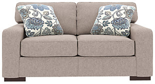 Ashlor Nuvella® Loveseat and Pillows, Slate, rollover