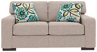 Ashlor Nuvella® Loveseat and Pillows, Slate, large