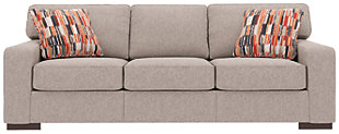Ashlor Nuvella® Sofa and Pillows, Slate, rollover