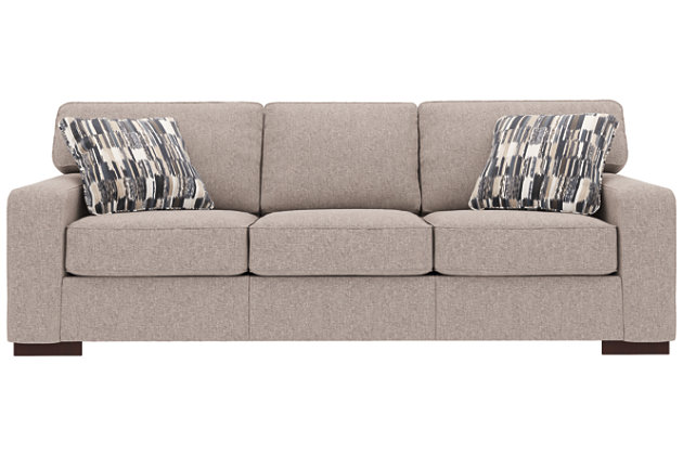 Ashlor Nuvella® Sofa and Pillows, Slate, large