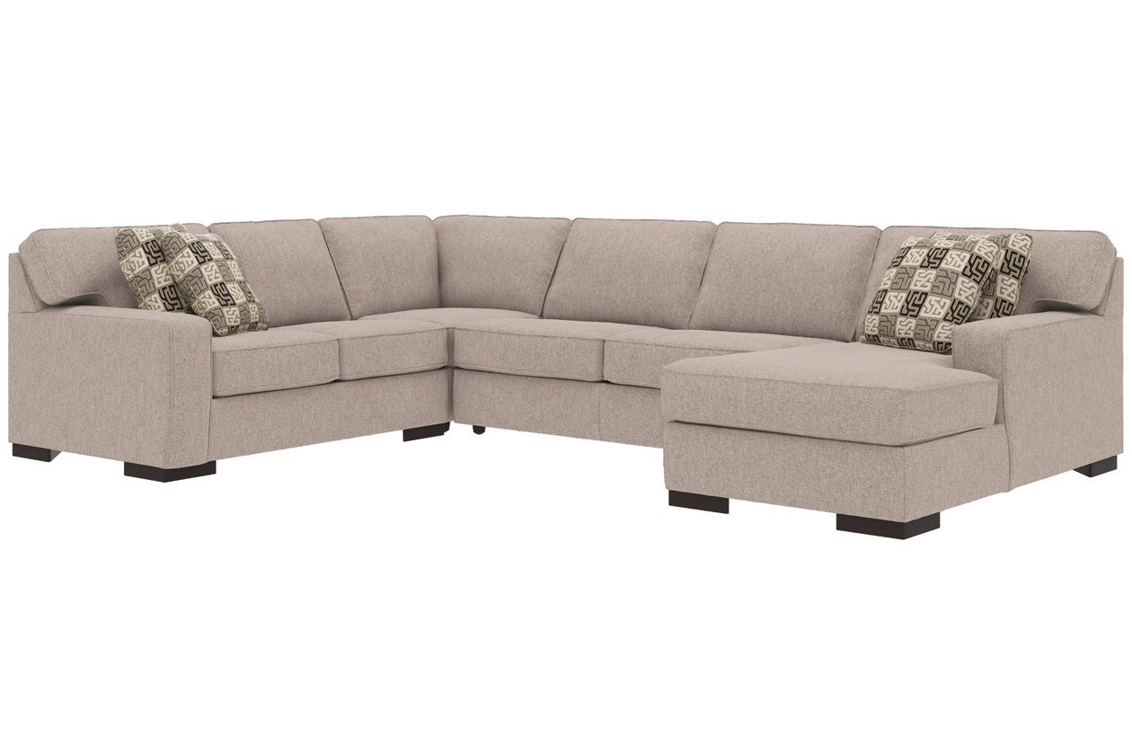 Outstanding Ashlor Nuvella 4 Piece Sleeper Sectional And Pillows Download Free Architecture Designs Terstmadebymaigaardcom